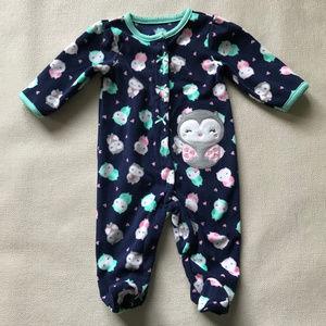 Carters Baby Girl Fleece Sleep & Play Footie Owl